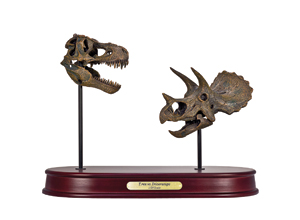T.rex vs. Triceratops Mini Skulls Model