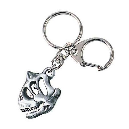 Carnotaurus Skull Pewter Keychain