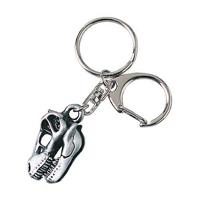 Tyrannosaurus Skull Pewter Keychain